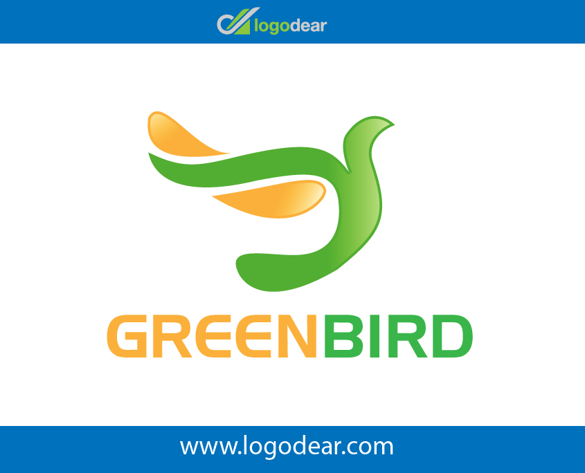 Green Bird Modern Logo Design Vector File Free Download Now