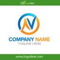 Logo Design Letter N Artistic Letters Logo Concept Vector Free Download