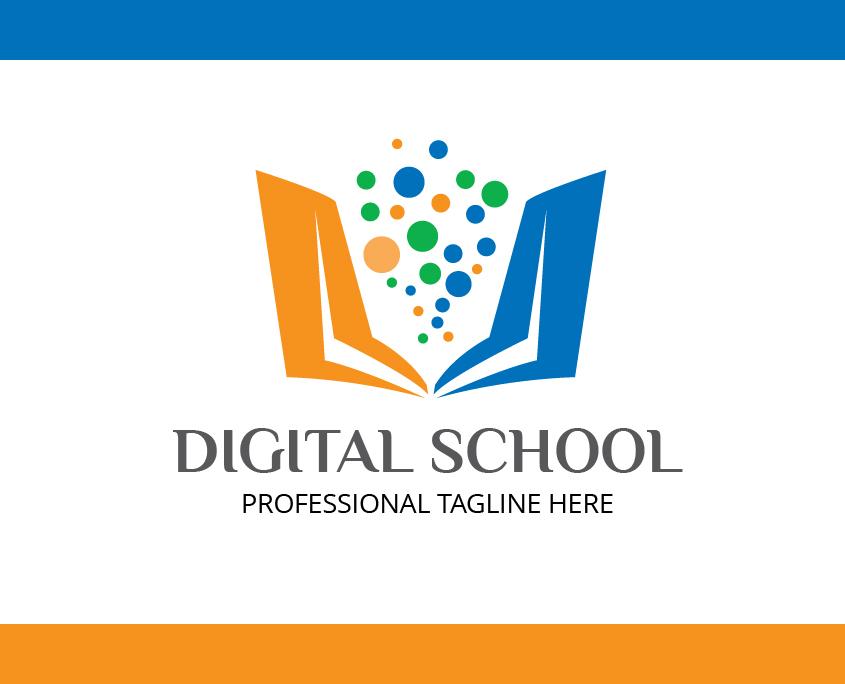 Modern Custom Logo Template Digital School Free Download