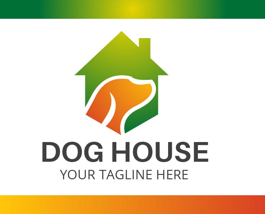 Custom Logo Template Dog House Vector Free Download