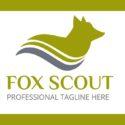 Professional Custom Logo Template Fox Scout Original Vector Free Download