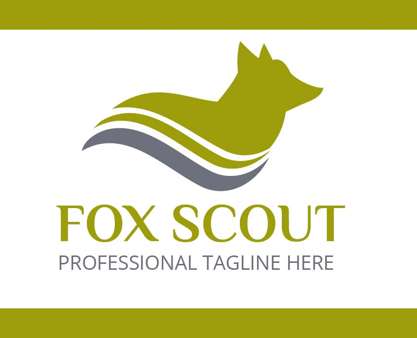 Professional Custom Logo Template Fox Scout Original Vector Free Download