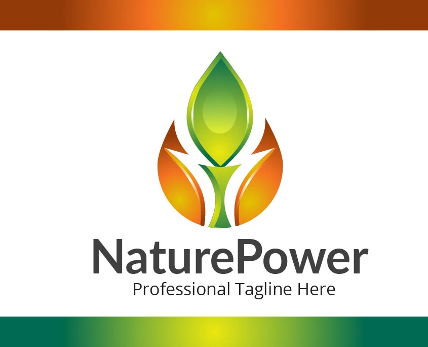 Modern Custom Logo Template Nature Power Free Download