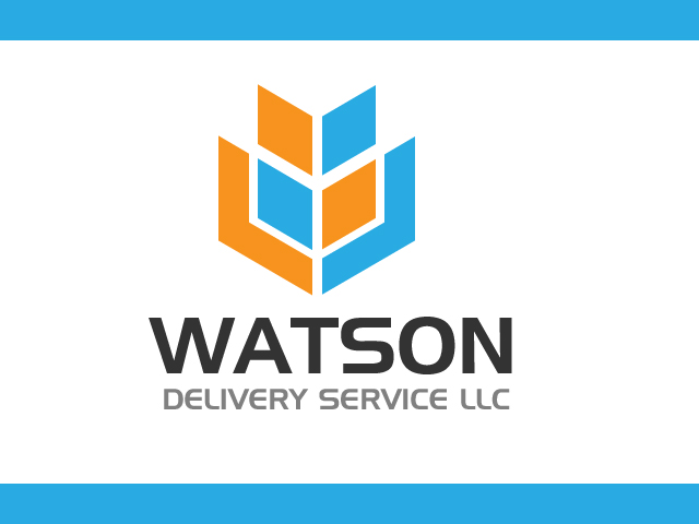Box Delivery Company Logo Design Vector