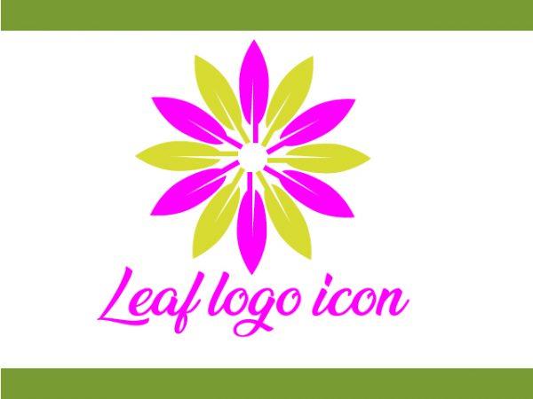 Leaf Icon design vector free download