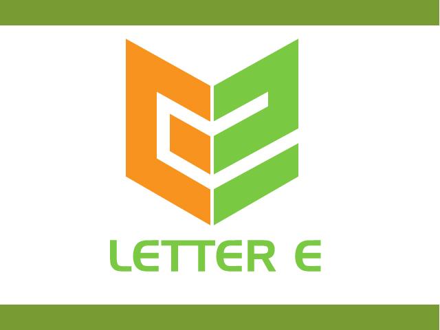Letter E Shield Logo Vector Design