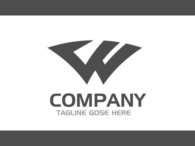 Modern Letter W Logo Delivery Service