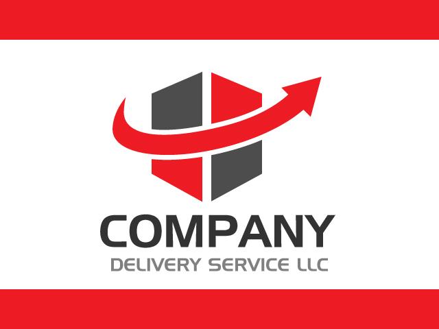 Delivery Service Company Logo Design Vector