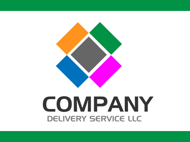 Delivery Abstract Logo Design Vector