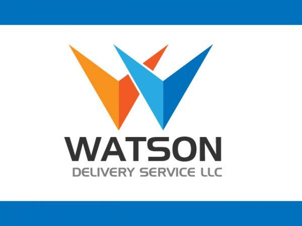 minimalistic Modern delivery Company logo design vector