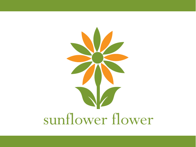 Sunflower Flower Logo Vector Icon