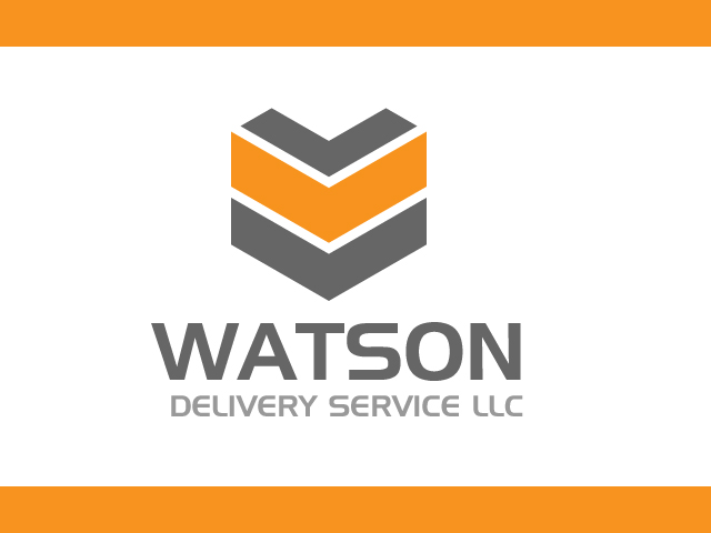 Up Arrow Modern Delivery Service Logo Design