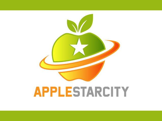 Apple Star City Creative Logo Idea