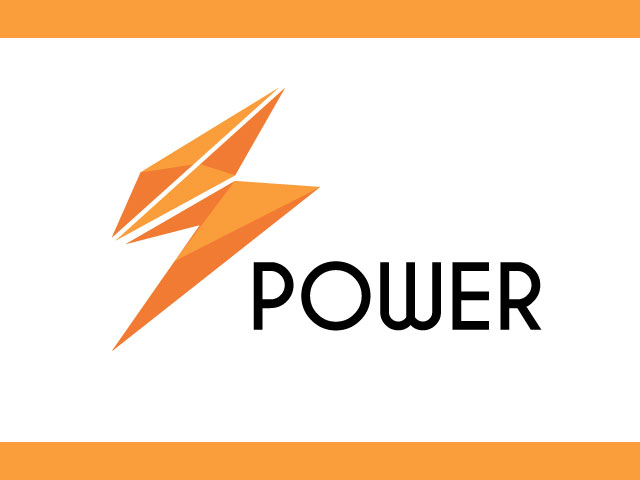 Vector Electric Power Logo Design