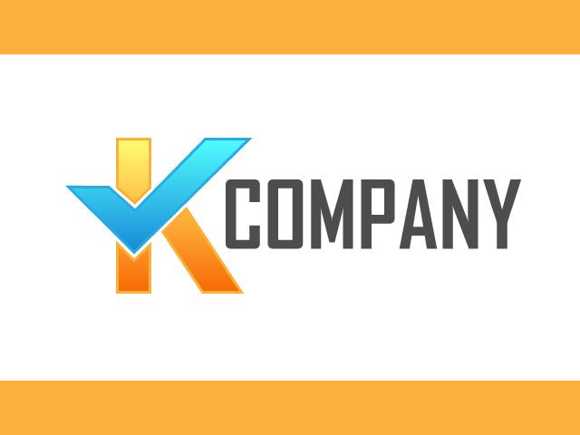 Logo Design Letter K With A Check Mark