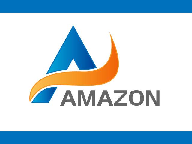Blue Letter A Logo Design Free Download.