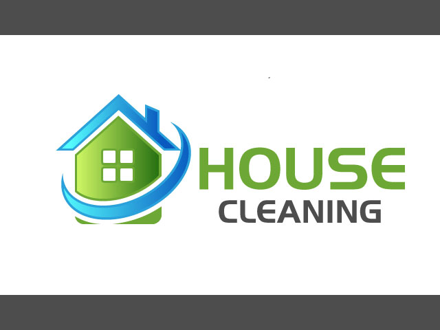 House Cleaning Vector Logo