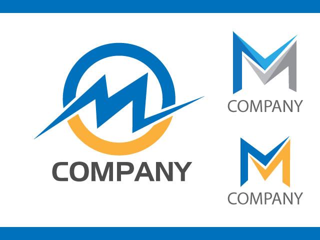 Modern letter M logo design idea