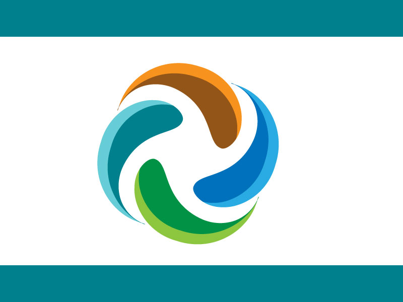 Round circle logo free vector