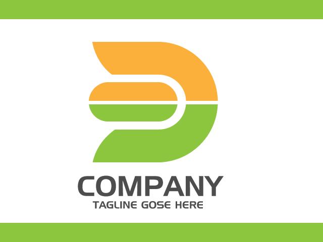 Letter D Simple Logo Design Original Vector