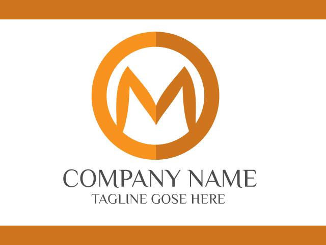 Letter M minimal Logo Design Vector