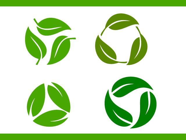 Tree Leaves Vector Logo Design