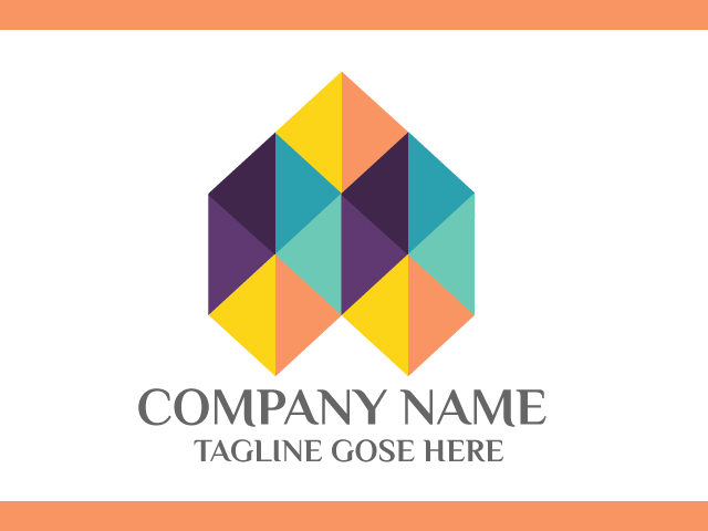 Abstract Letter A Company Logo Design