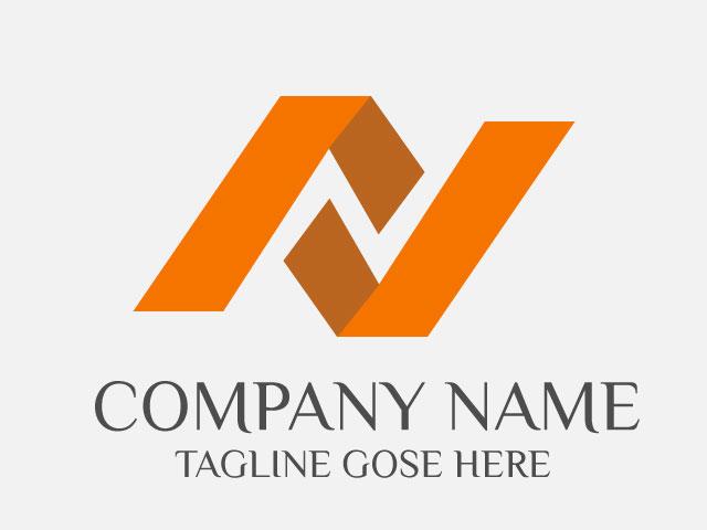 letter n company logo design vector