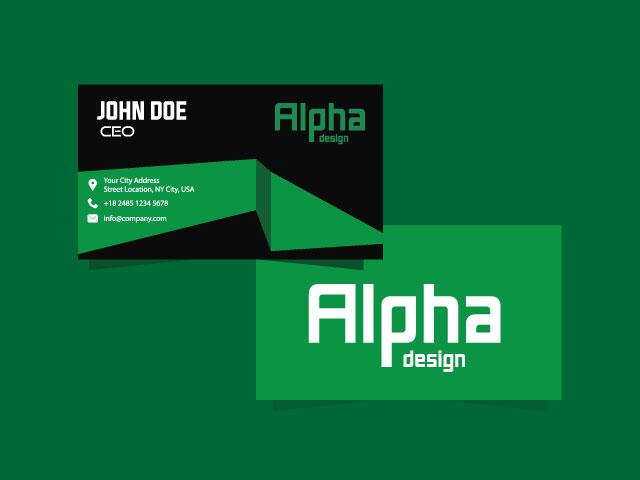 Alpha Digital Business Card Free Download