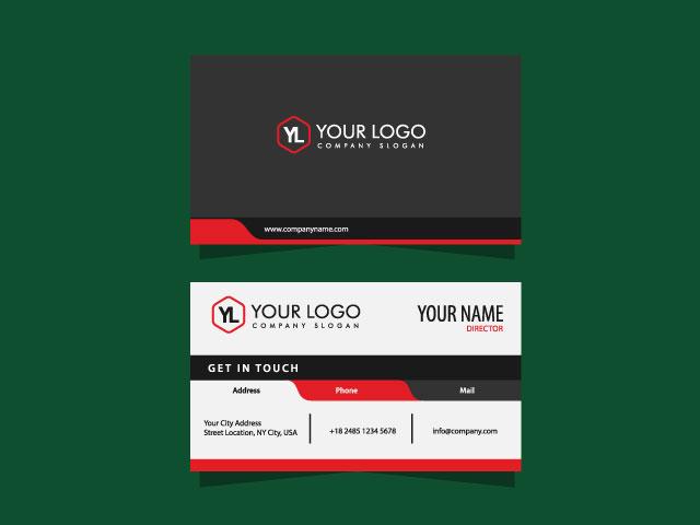 Professional business card design idea