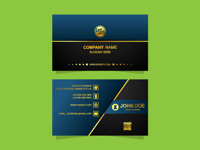 black colour corporate business card download
