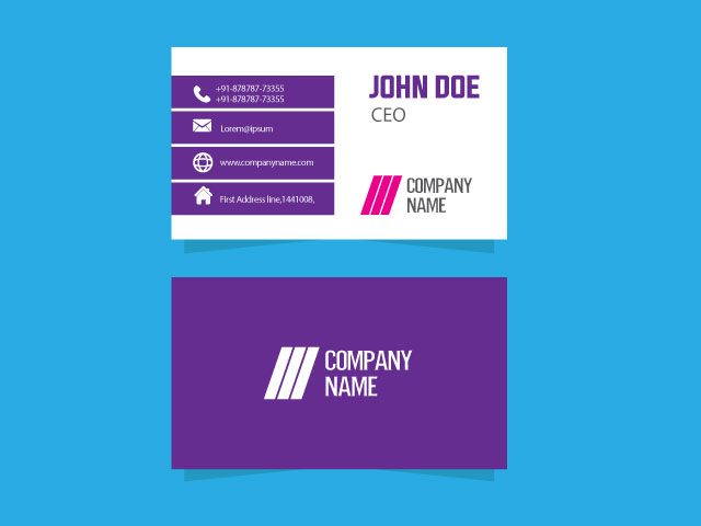 Company Visiting Card For Free Download
